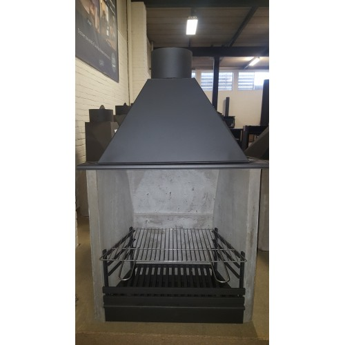 Barbecue set (Vaste steunen en rvs grille) Type 55cm.