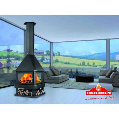 Bronpi Huelva 4 zijde glas designhaard