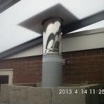 Polycarbonaaat terras dak onder aanzicht