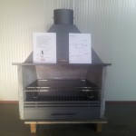 Chamotte haard + Barbeque vleesrooster set