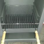 Stalen buitenhaard met bbq-grille